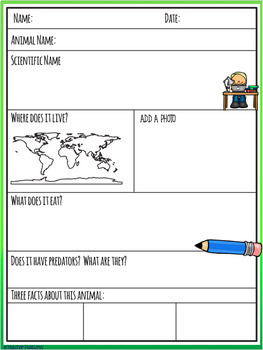 Google Classroom Activities WRITING RESEARCH REPORTS FOR ANY ANIMAL