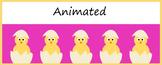 Animated Google Classroom Headers (Baby Chicks) - Distance