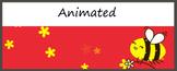 Animated  Google Classroom Headers (Bee Happy) -  Distance