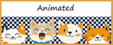 Animated Google Classroom Headers (Cats!) - Distance Learning