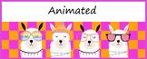 Animated Google Classroom Headers (Llama Llama) - Distance