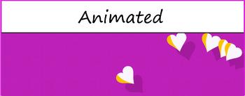 """Hearts"" Google Classroom Animated Theme Banner/ Header (Freebie)"