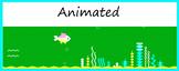 Google Classroom Animated Headers (Aquarium)