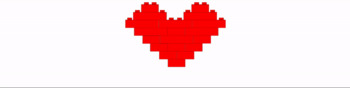 "Google Classroom Animated Theme ""Block Heart"""