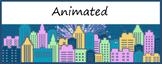 Google Classroom Animated Headers (Cityscape)