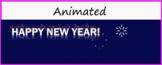 "Google Classroom Animated Theme ""Happy New Year"""