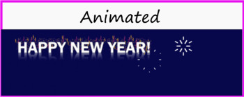 "Google Classroom Animated Theme ""Happy New Year"""