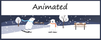 Animated Google Classroom Headers (Let it snow!) for Distance Learning