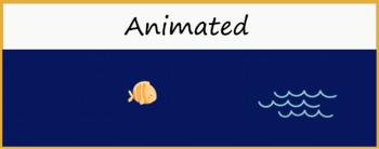 """Ocean"" Animated Google Classroom Headers/ Banners"