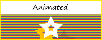 """Rainbow Stars""  Animated Google Classroom Headers/ Banners"