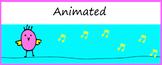 Animated Google Classroom Headers (Songbird) - Distance Learning