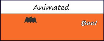 """Boo"" Animated Google Classroom Header/ Banner"
