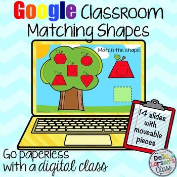 Google Classroom Apple Shape Match Distance Learning