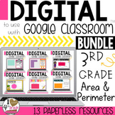 Google Classroom Area and Perimeter Bundle