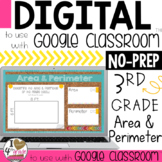 Distance Learning Google Classroom Area and Perimeter