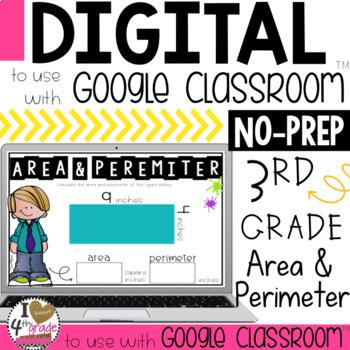 Google Classroom Area and Perimeter Digital Task Cards