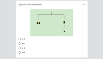 Google Classroom Assignment-Solving 1 and 2 Step Equations Visually