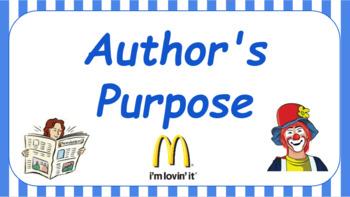 Google Classroom: Author's Purpose