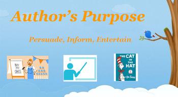 Google Classroom: Author's Purpose Activity