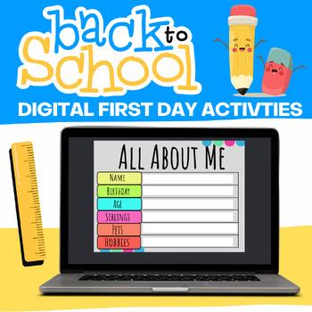 Google Classroom Back to School Activities