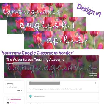 Google Classroom Banner Images {SPRING THEME - English Language Arts}