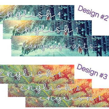 Google Classroom Banner Images {WINTER THEME - English Language Arts}