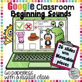 Google Classroom Beginning Sound Match - Monster Themed
