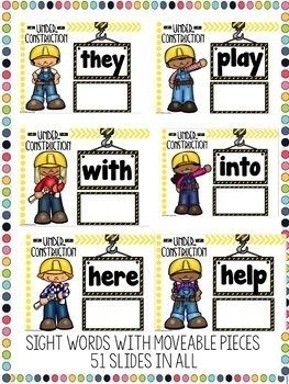 Google Classroom Building Sight Words