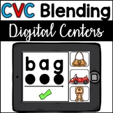 Google Classroom CVC Blending -- BONUS Boom Cards included (Digital Centers)