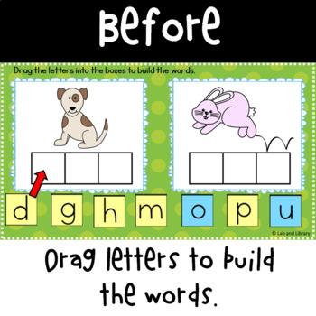 Google Classroom: CVC Word Builder