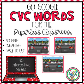 Google Classroom CVC Words - Digital Version