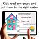 Google Classroom™ Activities Reading Passages for Grade 1 (with CVC words)