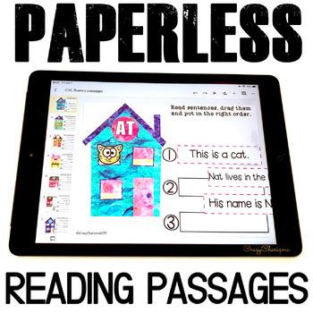 Google Classroom™ Activities | Fluency Passages | Kindergarten and First Grade