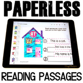 Digital Reading Passages Kindergarten for Google Classroom