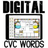 CVC reading sentences {Unicorns} for Google Classroom (set 1)