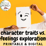 Digital Character Traits vs. Feelings Exploration