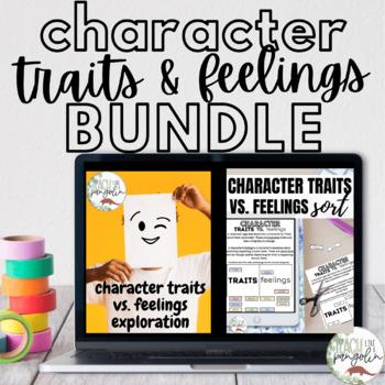 Google Classroom Character Traits vs. Feelings Mini BUNDLE