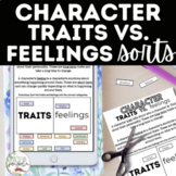 Digital Character Traits vs. Feelings Sort