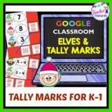 for Google Classroom Christmas Elf Math TALLY MARKS