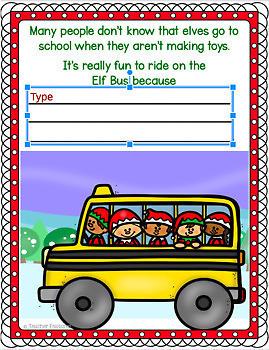 Google Classroom Christmas   Writing Prompts   MY LIFE AS SANTA'S ELF