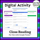 Digital Close Reading Activity- Google Forms (4-5) - Dista