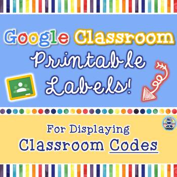 Google Classroom Code Printable Labels