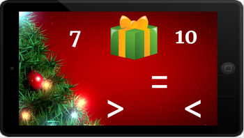 Google Classroom: Comparing 1 Digit Numbers- Christmas