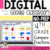 Google Classroom Comparing FRACTIONS  Distance Learning