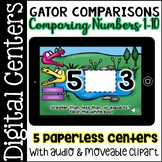 Digital Centers Comparing Numbers 1-10 (for Google Classroom, One Drive)