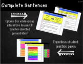 Google Classroom Complete Sentence Lesson with Paperless S