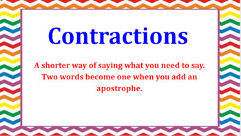 Google Classroom: Contractions (Have)