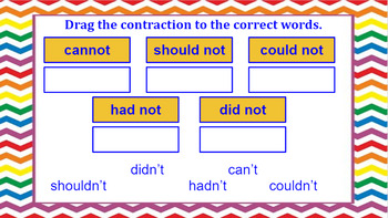 Google Classroom: Contractions- not