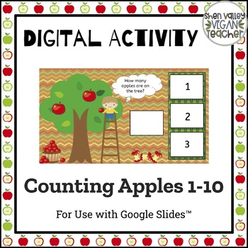 Google Classroom Counting Apples 1-10 (Digital Resource)