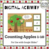 Digital Activity - Counting Apples 1-10 - FREEBIE